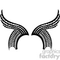 vinyl ready vector wing tattoo design 060