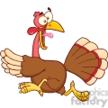 6886_royalty_free_clip_art_turkey_escape_cartoon_mascot_character  gif, png, jpg, eps, svg, pdf