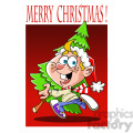 merry christmas kid getting a christmas tree  gif, png, jpg, eps, svg, pdf