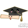 graduation cap cartoon character