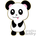cartoon Panda illustration clip art image