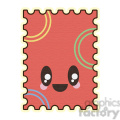 Postage Stamp cartoon character illustration