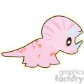 pink baby dinosaur 2 cartoon character illustration