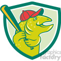 trout baseball player batting shield  gif, png, jpg, eps, svg, pdf