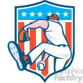pitcher throw ball side hide ball usa flag crest  gif, png, jpg, eps, svg, pdf