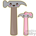 hammer dad and daughter  gif, png, jpg, eps, svg, pdf