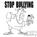 stop bullying man yelling at stuffed animal black and white  gif, png, jpg, eps, svg, pdf