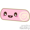 Swiss roll cartoon character vector image