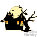 Halloween House cartoon character vector image