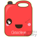 Gas Can cartoon character vector clip art image