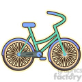 Bicycle cartoon character vector clip art image