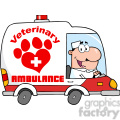 royalty free rf clipart illustration doctor driving veterinary ambulance  gif, png, jpg, eps, svg, pdf