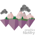 Landscape geometry geometric polygon vector graphics RF clip art images