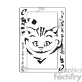 alice in wonderland cheshire cat playing card