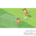 olympic soccer characters illustration  gif, png, jpg, eps, svg, pdf