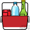 cooler loaded with water beer soda icon
