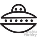 ufo flying saucer vector icon  gif, png, jpg, eps, svg, pdf
