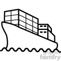 container ship vector icon