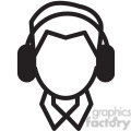 person listening to music vector icon  gif, png, jpg, svg, pdf