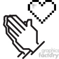 8 bit praying hands