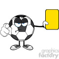 soccer ball cartoon mascot character referees pointing and showing yellow card vector illustration isolated on white background gif, png, jpg, eps, svg, pdf