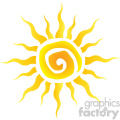 abstract yellow sun simple design in gradient vector illustration isolated on white background