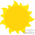 yellow silhouette sun vector illustration isolated on white background
