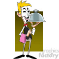 vector clipart image of anonymous waiter