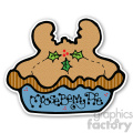 christmas mouseberry pie sticker