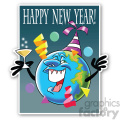 new year earth sticker