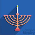 hanukkah menorah flat vector art