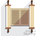 jewish torah scroll flat vector art icon no background with shadow  gif, png, jpg, eps, svg, pdf