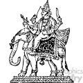 Indra king of heaven vintage 1900 vector art GF
