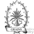 vintage grains wreath vector vintage 1900 vector art GF