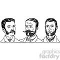 mens hair styles 2 1900s vintage 1900 vector art gf  gif, png, jpg, eps, svg, pdf