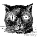 vintage steampunk cat head with clock eyes vector vintage 1900 vector art GF
