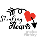 stealing hearts with arrow vector design