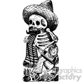 drunk skeleton vector art day of the dead Jose Guadalupe Posada