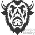 buffalo head vector art