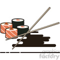 Sushi flat vector icon design