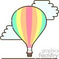 Hot air ballon flat vector icon design