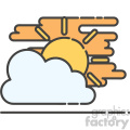 Partly cloudy flat vector icon design