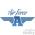 air force aviation wings vector logo template