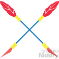 colored crossed arrow vector design 07