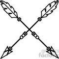 arrows crossed vector design 04