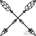 arrows crossed vector design 04