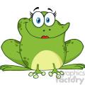 10668 Royalty Free RF Clipart Cute Frog Female Cartoon Mascot Character Vector Illustration