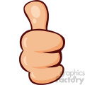 10686 Royalty Free RF Clipart Cartoon Hand Giving Thumbs Up Gesture Vector Illustration
