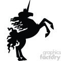 unicorn silhouete svg cut file 8
