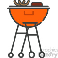 Barbeque stand clip art vector images